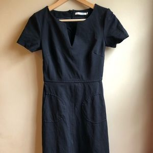 Boden black dress w pockets